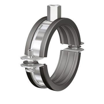 Flamco tweedelige beugel BSI, staal, blank, uitwendige buisdiameter 26-30mm