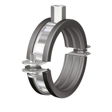 Flamco tweedelige beugel BSI, staal, blank, uitwendige buisdiameter 32-36mm