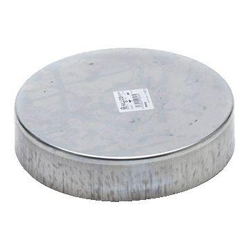 AIR Spiralo deksel rond luchtkanaal, staal sendz verz, nom. diam 125mm
