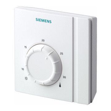 Siemens RAA21 kamerthermostaat aan/uit 250V met draaiknop, wit