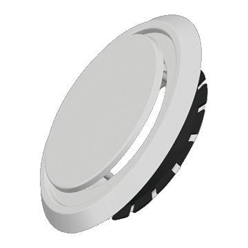 Zehnder ventilatieventiel, RVS, wit, rond, nom. diam aansluiting 125mm