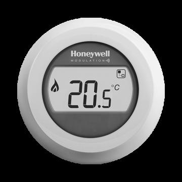 Honeywell Round Modulation Plus kamerthermostaat Opentherm met draaiknop, wit