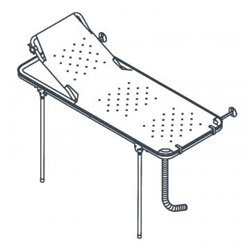 Linido doucheraam met verstelbare rugsteun, opvangbak en flexibele afvoerslang 150cm, staal gecoat wit