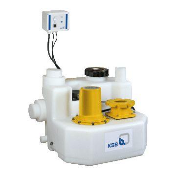 Ksb Mini-Compacta vuilwaterpompunit, geschikt voor fecaliën, reservoir kunststof