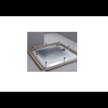 Bette douchebakdrager/poten, staal, (lxbxh) 1200x800x65-120mm uitvoering