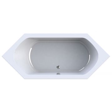 Wavedesign by Wisa Rodante ligbad, acryl, wit, (lxb) 1790x800mm rechthoekig