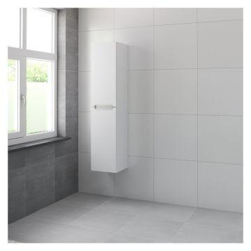 Bruynzeel Mino hoge kast 165x35x35 cm, rechtsdraaiend, mat wit
