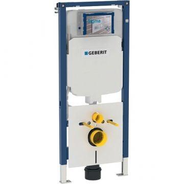 Geberit Duofix UP720 ruimtewinnend wc-element voor hangend toilet 114x50x8-14,5 cm