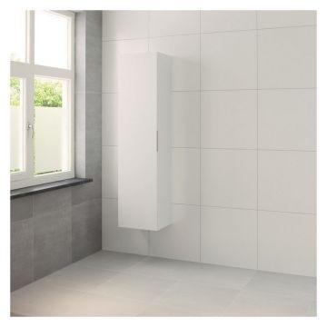 Bruynzeel Matera hoge kast met rechtsdraaiende deur 35 x 41 x 167 cm, mat wit