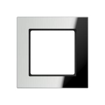 JUNG A Creation afdekraam, glas, zilver, (bxhxd) 84x84x10.4mm 1 eenheid