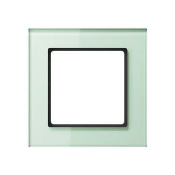 JUNG A Creation afdekraam, glas, wit, (bxhxd) 84x84x10.4mm 1 eenheid