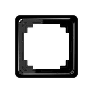 JUNG CD Plus afdekraam kunststof, zwart, (bxhxd) 84x84x8.6mm