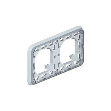 Legrand Plexo IP55 inbouwraam 2-voudig horizontaal, grijs