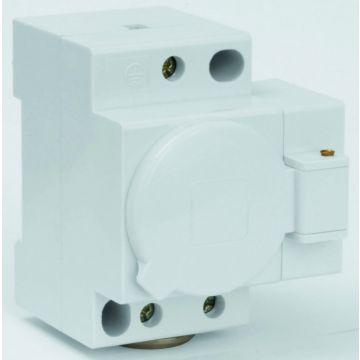 Hager SN wandcontactdoos modulair randaarde, grijs, DRA (DIN-rail adapter)
