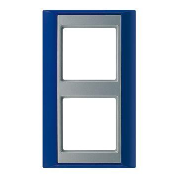 JUNG A Plus afdekraam kunststof, blauw, (bxhxd) 93x160x10.4mm