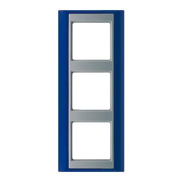 JUNG A Plus afdekraam kunststof, blauw, (bxhxd) 93x231x10.4mm