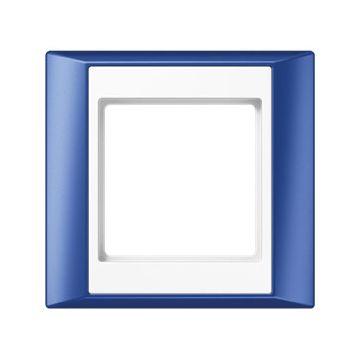 JUNG A Plus afdekraam kunststof, blauw, (bxhxd) 93x89x10.4mm