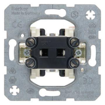 Hager berker drukcontact, grijs, met verlichting, kwaliteitsklasse
