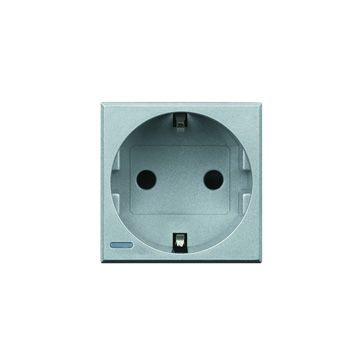 Legrand BTicino Axolute wandcontactdoos kunststof, aluminium