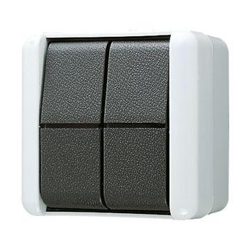 JUNG WG800 installatieschakelaar kunststof, grijs, type schakelaaring 2-polig