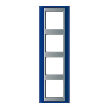 JUNG A Plus afdekraam kunststof, blauw, (bxhxd) 93x302x10.4mm