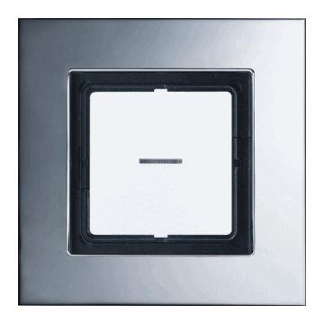 JUNG LS Plus Chroom afdekraam, metaal, chroom, (bxhxd) 115x115x11mm