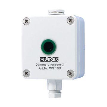 JUNG EIB-KNX fysische sensor bussysteem, wit, bussysteem KNX, uitvoering schemerschakelaar