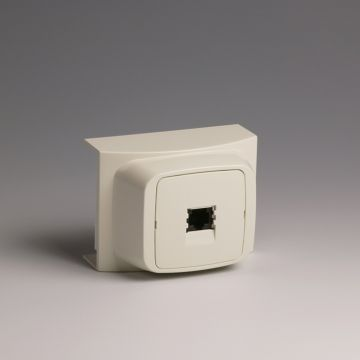 Attema K40 ET40 opbouwdoos plintgoot, kunststof, crème/wit, hoogte plintgoot