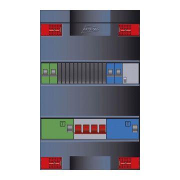 Attema Click-mate XL-plus XLAG installatiekast, (hxbxd) 380x220x100mm 3 fasen