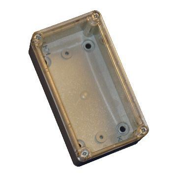 LSK pc 164x99x67mm transp deksel