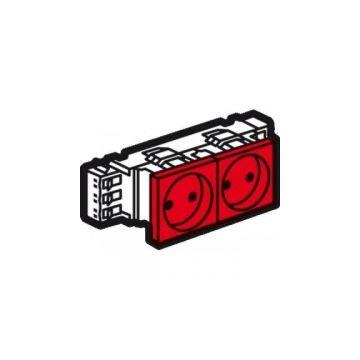 Legrand BTicino Mosaic wandcontactdoos kunststof, rood, 2 eenheden