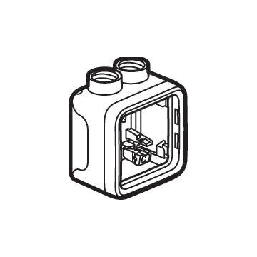 Legrand BTicino Plexo IP55 opbouwbak inbouwschakelmateriaal kunststof, grijs, samenstelling