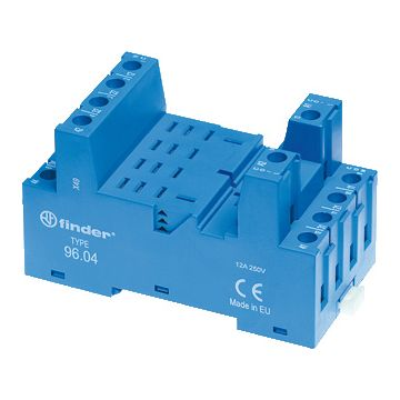 Finder 56 relaisvoet, blauw, (bxhxd) 27x48.2x82.5mm uitvoering elektrische