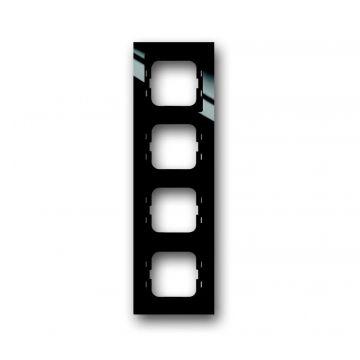 Busch-Jaeger Busch-axcent afdekraam 4-voudig, zwart