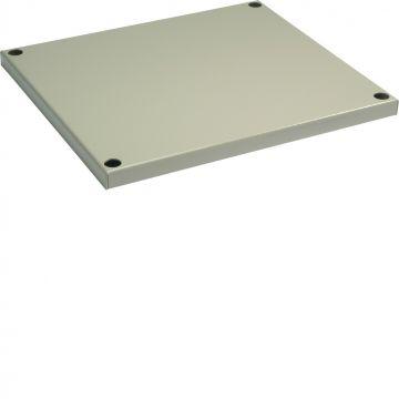 Hager Univers FG dak/vloerelement v kast/lessenaar, staal, grijs, (bxd) 850x400mm