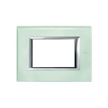 Legrand BTicino Axolute afdekraam modulair, glas, opaal groen