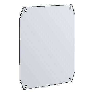 Eldon Uniplast UMPZ montageplaat voor kast/lessenaar, staal, (hxb) 390x390mm