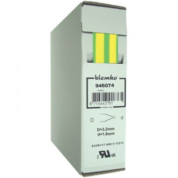 Klemko krimpslang, type warmkrimp, nom. doorsnede 2.5-10mm², kabeldiameter