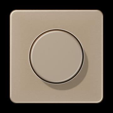 Jung dimmerplaat met knop cd1540gb, goud