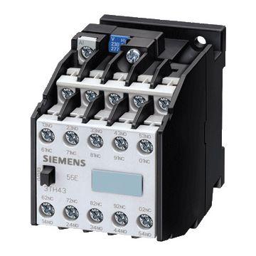 Siemens 3TH4 hulprelais, (hxbxd) 78x45x102mm type spoelspanning AC, nom. spoelspanning