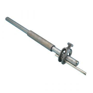 JMV aardelektrode/diepteaarding, staal, lengte 3000mm diameter 12mm uitvoering