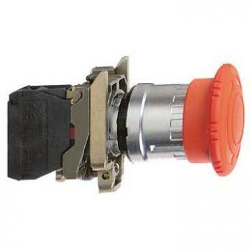 Schneider Electric noodstopknop Ø40mm met draaiontgrendeling 120V AC, rood