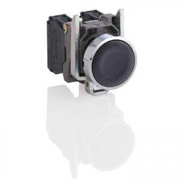 Schneider Electric drukknop 1 commandoposities, knop, zwart, frontvorm rond