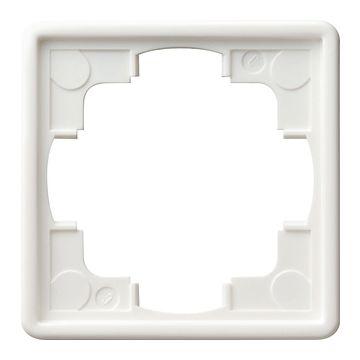 Gira S-Color IP21 afdekraam kunststof, wit, 1 eenheid, montagerichting