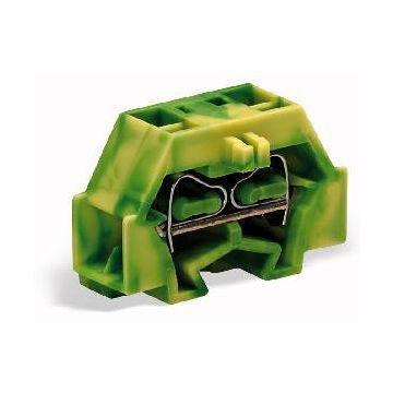 Wago kroonklemmenstrook, kunststof, groen/geel, lengte 25mm nom. (meet-)stroom