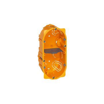 Legrand Mosaic doos voor montage in wand/plafond, kunststof, geel, (lxbxd)