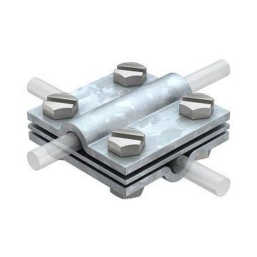 Obo verbinder voor bliksembeveiliging, staal, soort verbinding kruiskoppeling