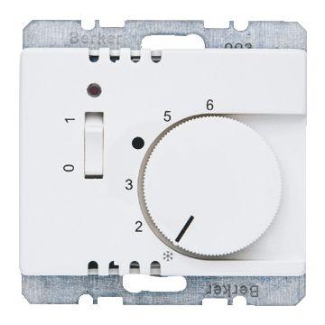 Hager berker Arsys kamerthermostaat met verbreekcontact, aan-/uitschakelaar en LED, polarwit