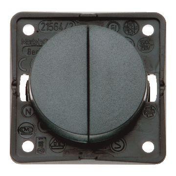 Hager berker Integro Flow installatieschakelaar, antraciet, type schakelaaring serieschakelaar