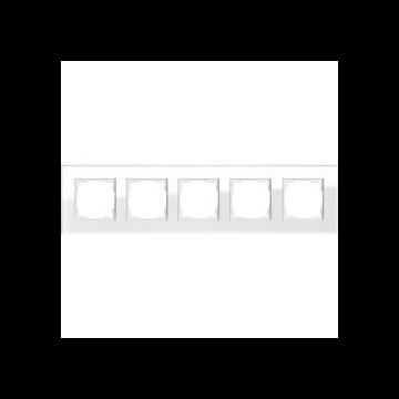 Gira Esprit afdekraam, glas, wit, 5 eenheden, montagerichting